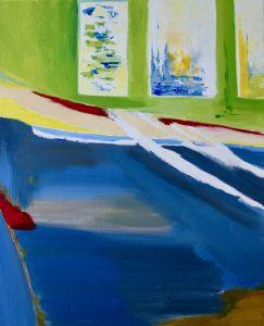 La coque bleue, 50 x 60