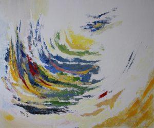 La vague, 50 x 60